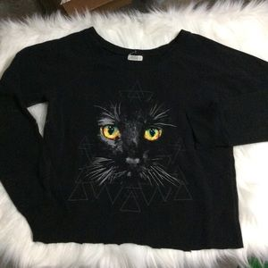 4 for $20//Cropped Cat Sweater